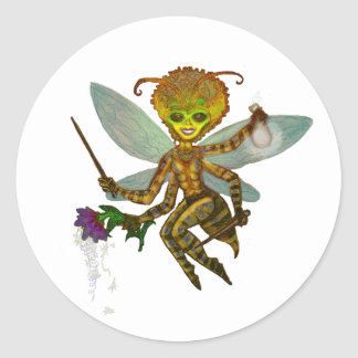 queen bumble bee classic round sticker