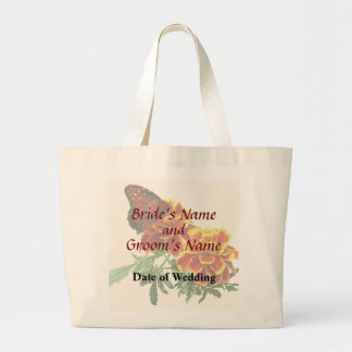 Queen Butterfly on Marigold Wedding Products Large Tote Bag