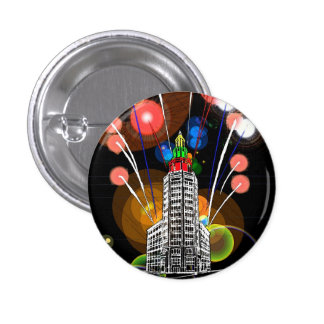 Queen City New Year 1 Inch Round Button