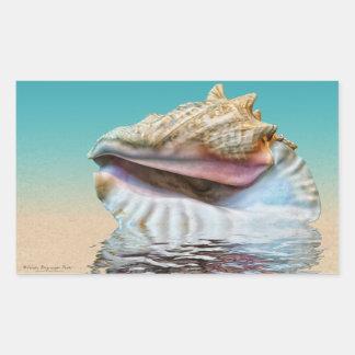 Queen Conch Sea Shell Ocean Blue Sticker