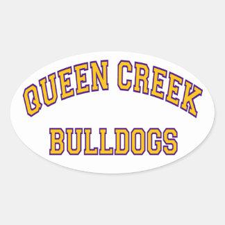 Queen Creek Bulldogs Oval Sticker