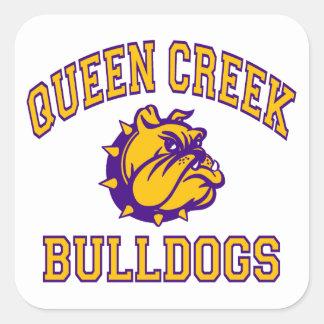 Queen Creek Bulldogs Square Sticker