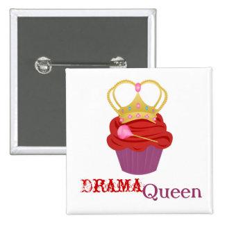 Queen Cupcake 2 Inch Square Button