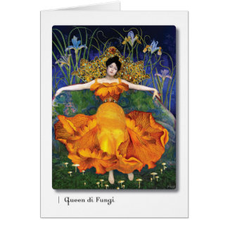 Queen di Fungi Tarot Art Card