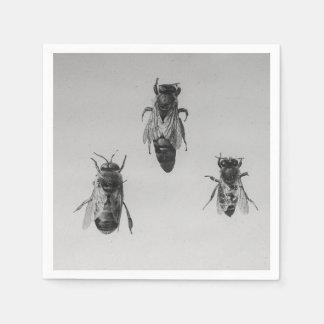 Queen Drone Worker Bee Keeping Apiology Apiarist Paper Napkins