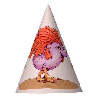 QUEEN EGGIE ALIEN MONSTER CARTOON Party Hat