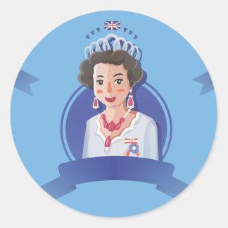 queen elizabeth 2 classic round sticker