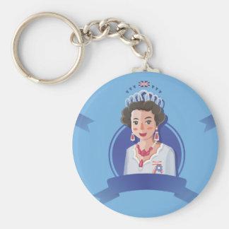 queen elizabeth 2 keychain