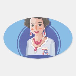 queen elizabeth 2 oval sticker