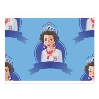 queen elizabeth 2 postcard