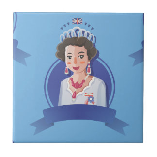 queen elizabeth 2 tile