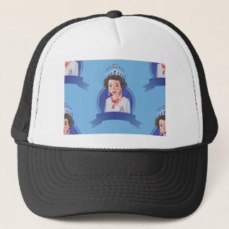 queen elizabeth 2 trucker hat