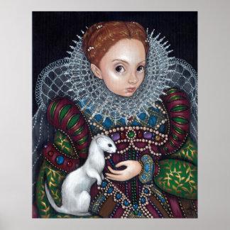Queen Elizabeth and an Ermine Art Print tudor