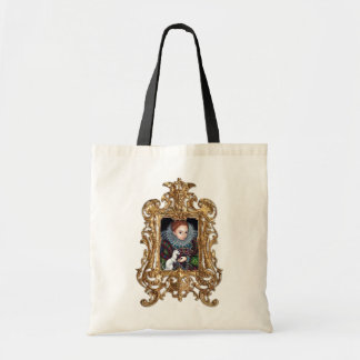 Queen Elizabeth and an Ermine framed Bag