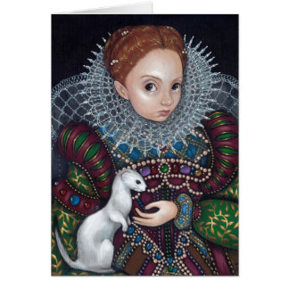 """Queen Elizabeth and an Ermine"" Greeting Card"