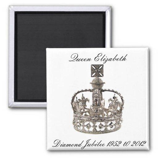 Queen Elizabeth Diamond Jubilee Magnet Fridge Magnets