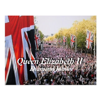 Queen Elizabeth Diamond Jubilee postcard