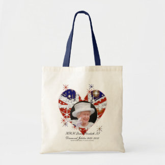 Queen Elizabeth Diamond Jubilee UK flag Tote Bag
