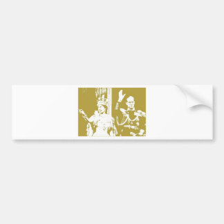 Queen Elizabeth Golden Jubilee Retro Bumper Sticker