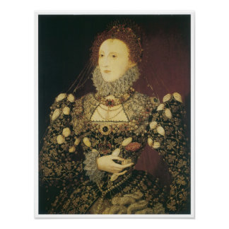 Queen Elizabeth I, 1575 Poster