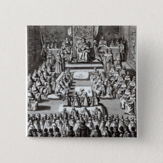 Queen Elizabeth I  and Parliament 2 Inch Square Button