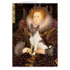 Queen Elizabeth I - Fox Terrier (brwn-white) Card