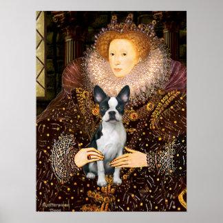 Queen Elizabeth I & Her Boston Terrier Poster