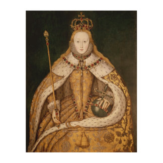 Queen Elizabeth I in Coronation Robes 2 Wood Wall Art
