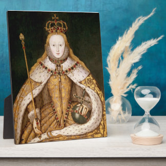 Queen Elizabeth I in Coronation Robes Plaque