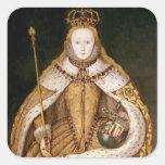 Queen Elizabeth I in Coronation Robes Square Sticker