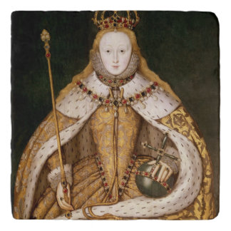 Queen Elizabeth I in Coronation Robes Trivet