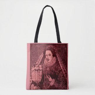 Queen Elizabeth I in pink Tote Bag
