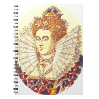 Queen Elizabeth I, QE1, The First Spiral Note Book