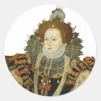 Queen Elizabeth I Round Sticker