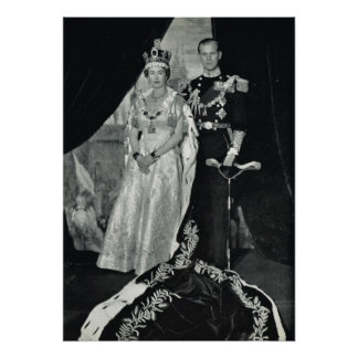 Queen Elizabeth II and Prince Philip Poster