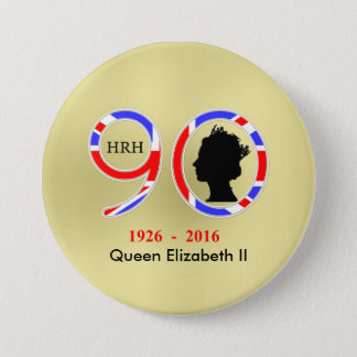 Queen Elizabeth II Of England 90th Birthday 3 Inch Round Button