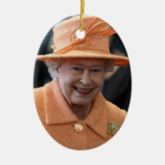 Queen Elizabeth II Queen of the United Kingdom Ceramic Ornament