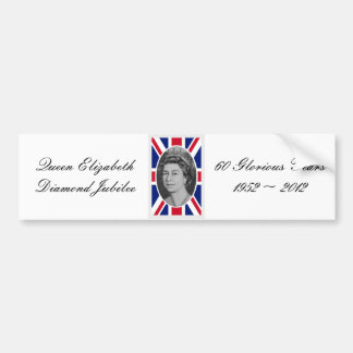 Queen Elizabeth Jubilee Portrait Bumper Sticker