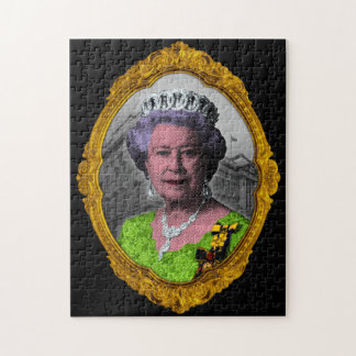 Queen Elizabeth Portrait in Frame Jigsaw Puzzle
