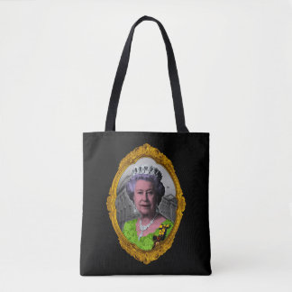 Queen Elizabeth Portrait in Frame Tote Bag