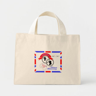 Queen Elizabeth Prince Philip 70th Anniversary Mini Tote Bag