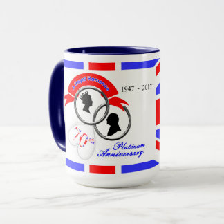 Queen Elizabeth Prince Philip 70th Anniversary Mug