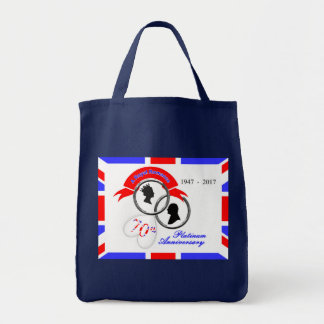 Queen Elizabeth Prince Philip 70th Anniversary Tote Bag