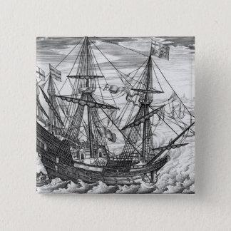 Queen Elizabeth's Galleon 2 Inch Square Button
