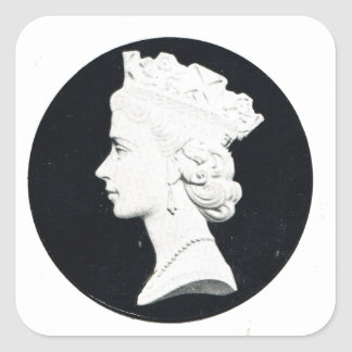 Queen Elizabzth II, Vivat regina Square Sticker