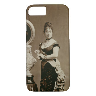 Queen Emma (1836-85) (sepia photograph) iPhone 7 Case