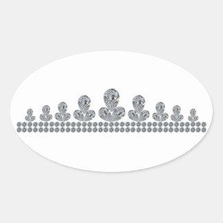 Queen-Fabiola's-Tiara Oval Sticker