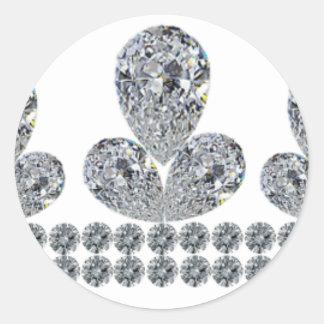 Queen-Fabiola's-Tiara Round Sticker