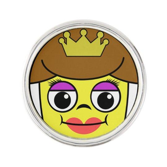 Queen Face Lapel Pin