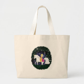 Queen Faery and Unicorn Forest Canvas Bags